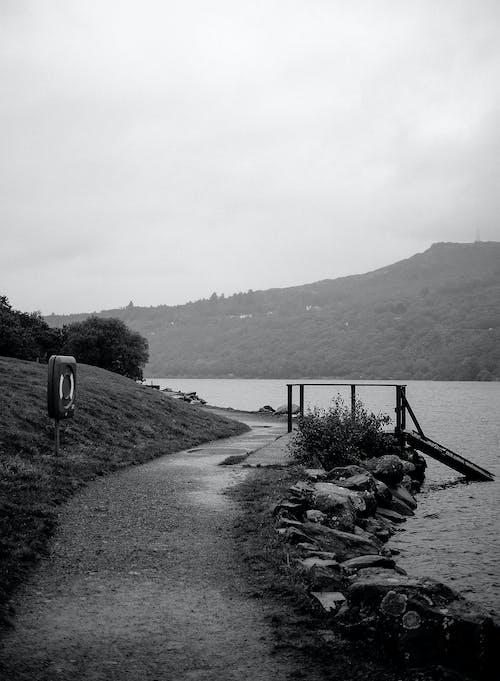 Free stock photo of lake, mountain area