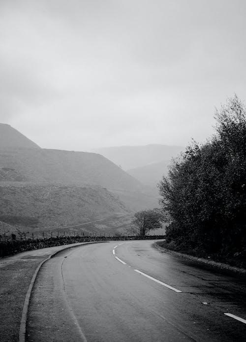Free stock photo of mountain, mountainscape, road