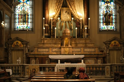A Shot of Altar in a Catholic Church