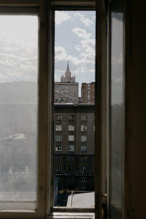 ガラスアイテム, シティ, ドアの無料の写真素材