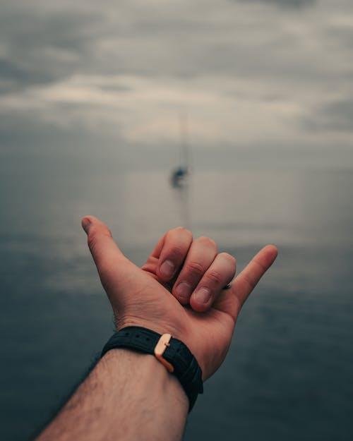 Foto d'estoc gratuïta de aigua, gestant, mà humana