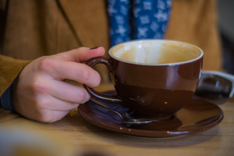 hand, kaffee, kaffeetasse