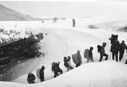 Mountain Climbing in Snowstorm