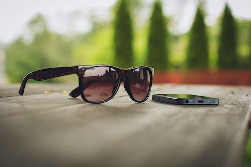 매크로, 선글라스, 스마트폰, 아이폰의 무료 스톡 사진