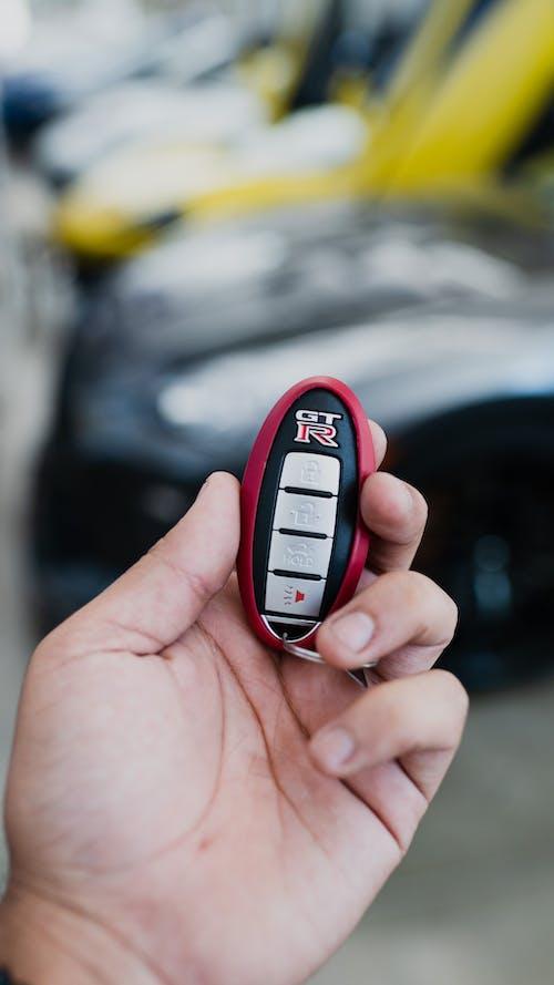 Close upon Car Key in Hand