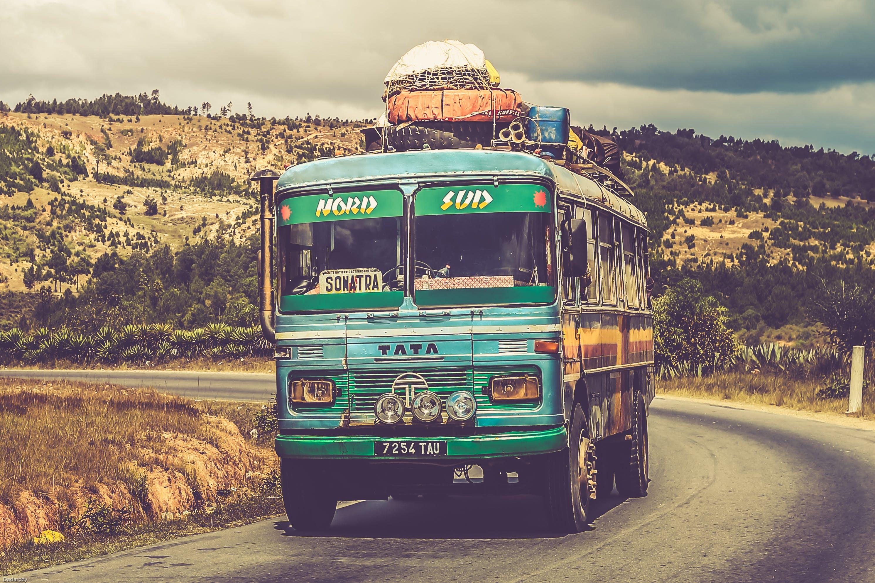 Blue Tat Bus