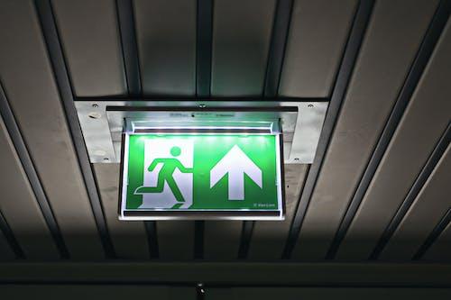 인테리어, 출구 표지판의 무료 스톡 사진