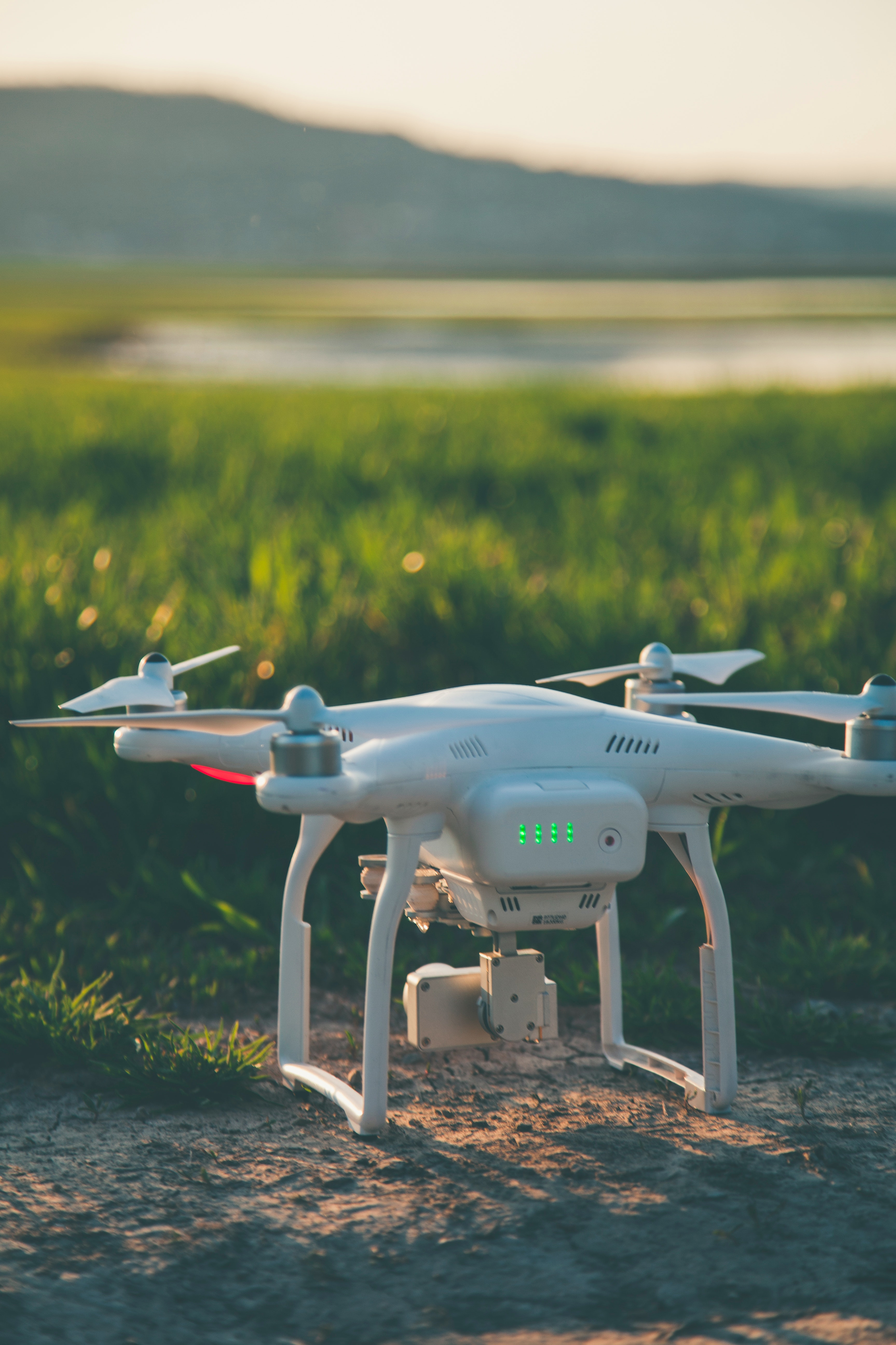 Drone Flying Against Blue Sky 183 Free Stock Photo