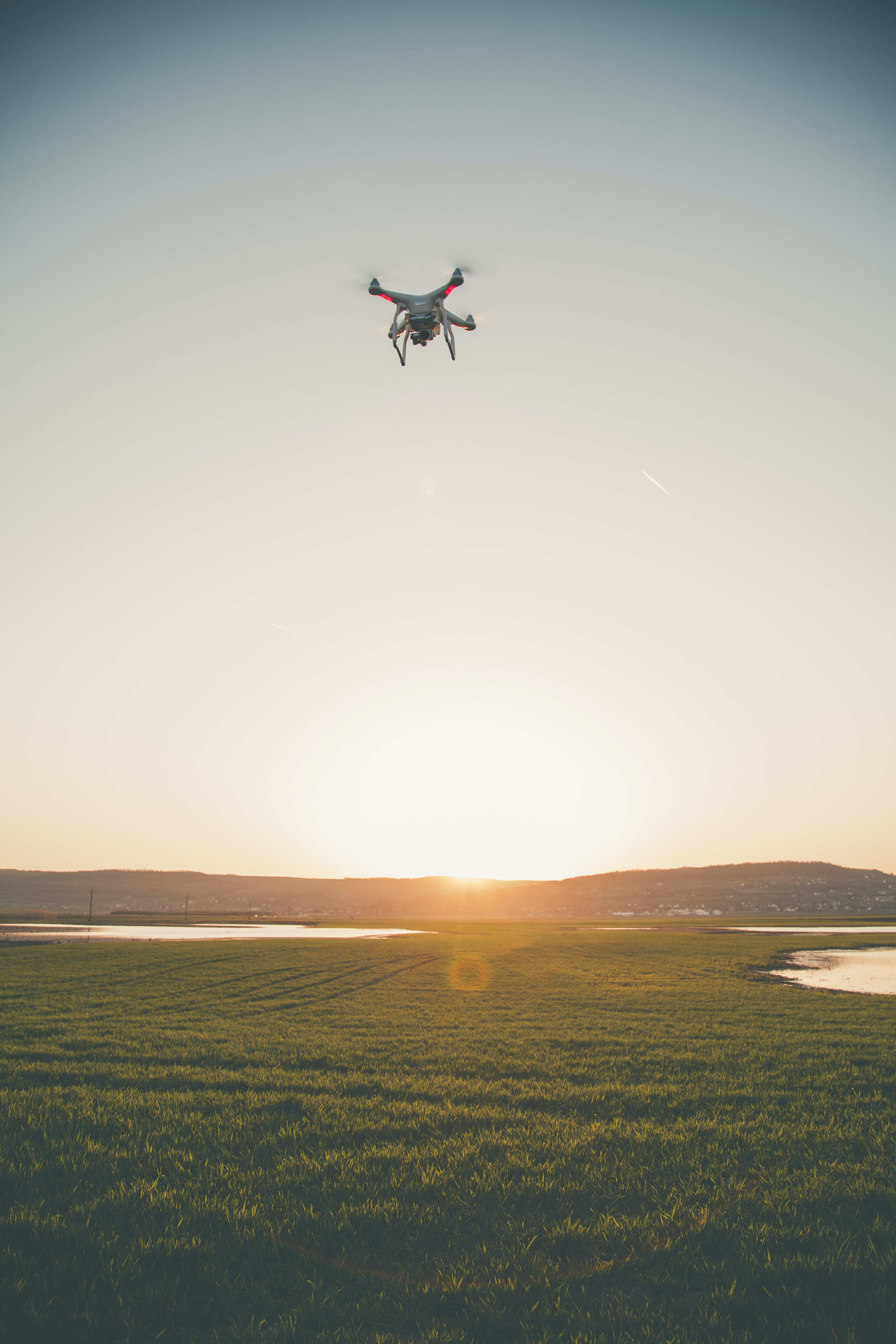 Photo of Drone Flying in the Field