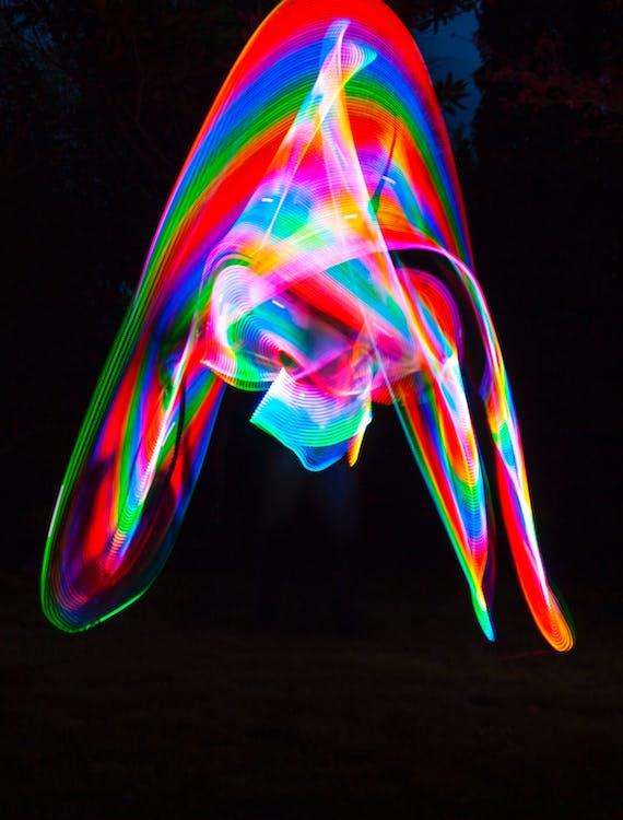bevægelse, farve, farverig