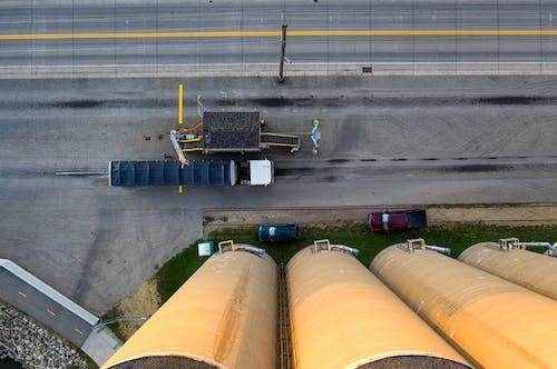 Photos gratuites de camion, charbon, directement au-dessus
