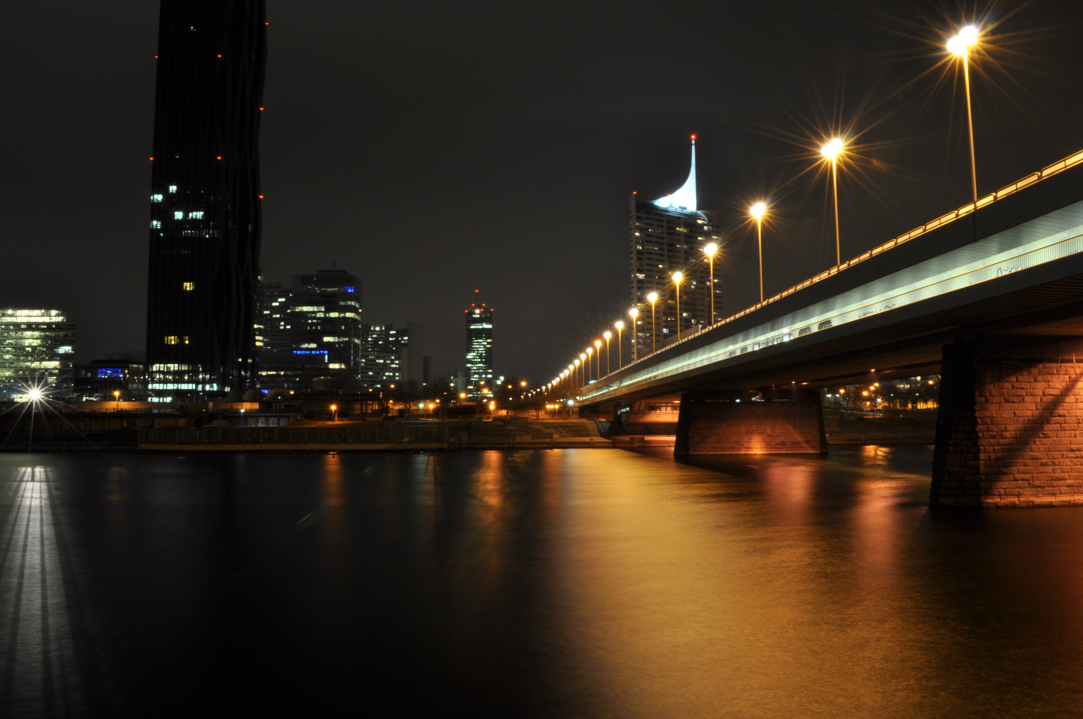 Bridge With Street Lights