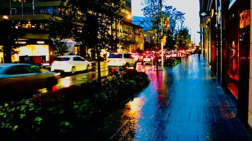 Gratis lagerfoto af aftenhimmel, arkitektur. by, billys, blå