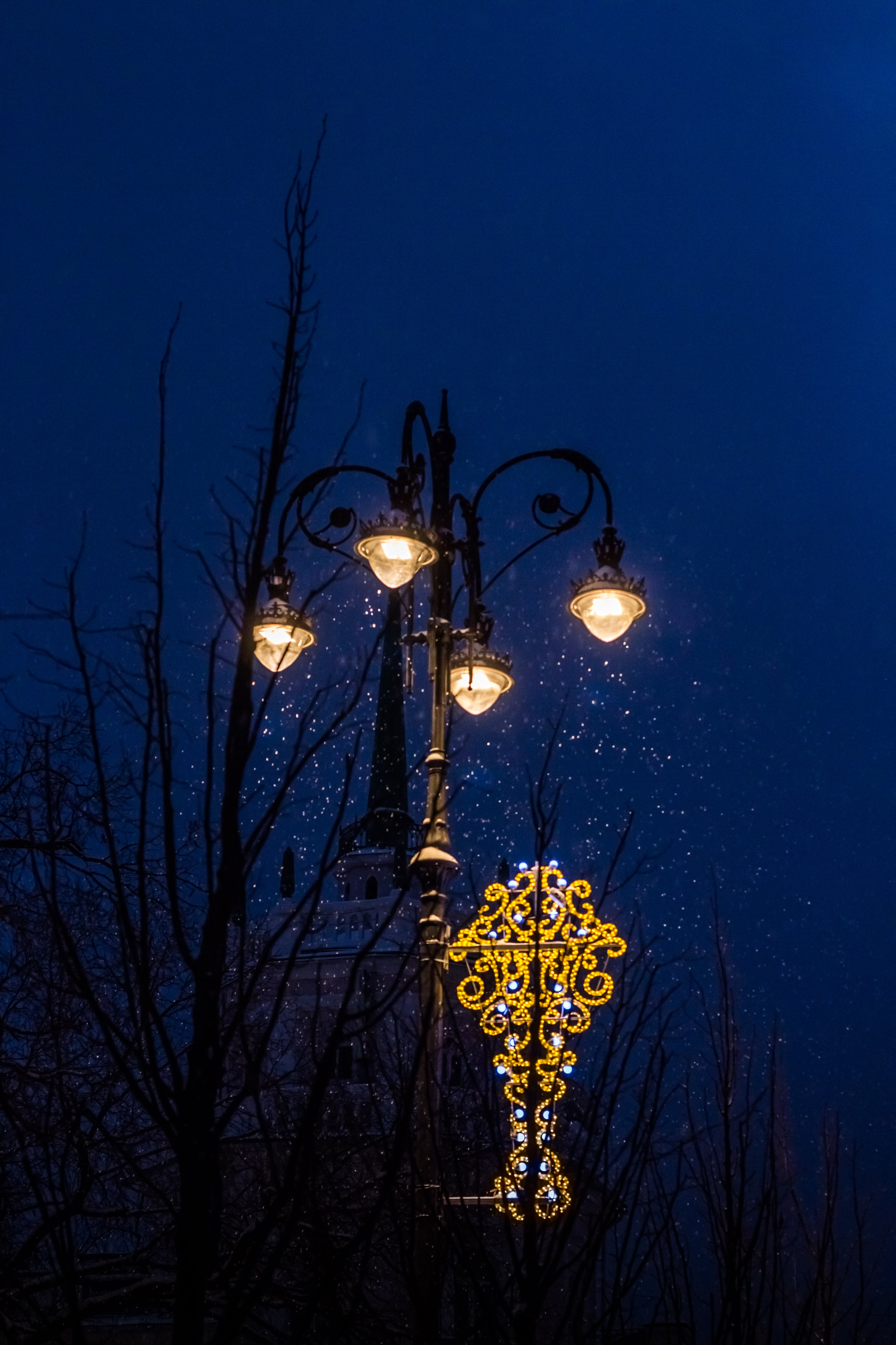 Lighted Lamppost