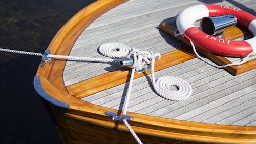 Photos gratuites de bateau, bois, bouée de sauvetage, corde