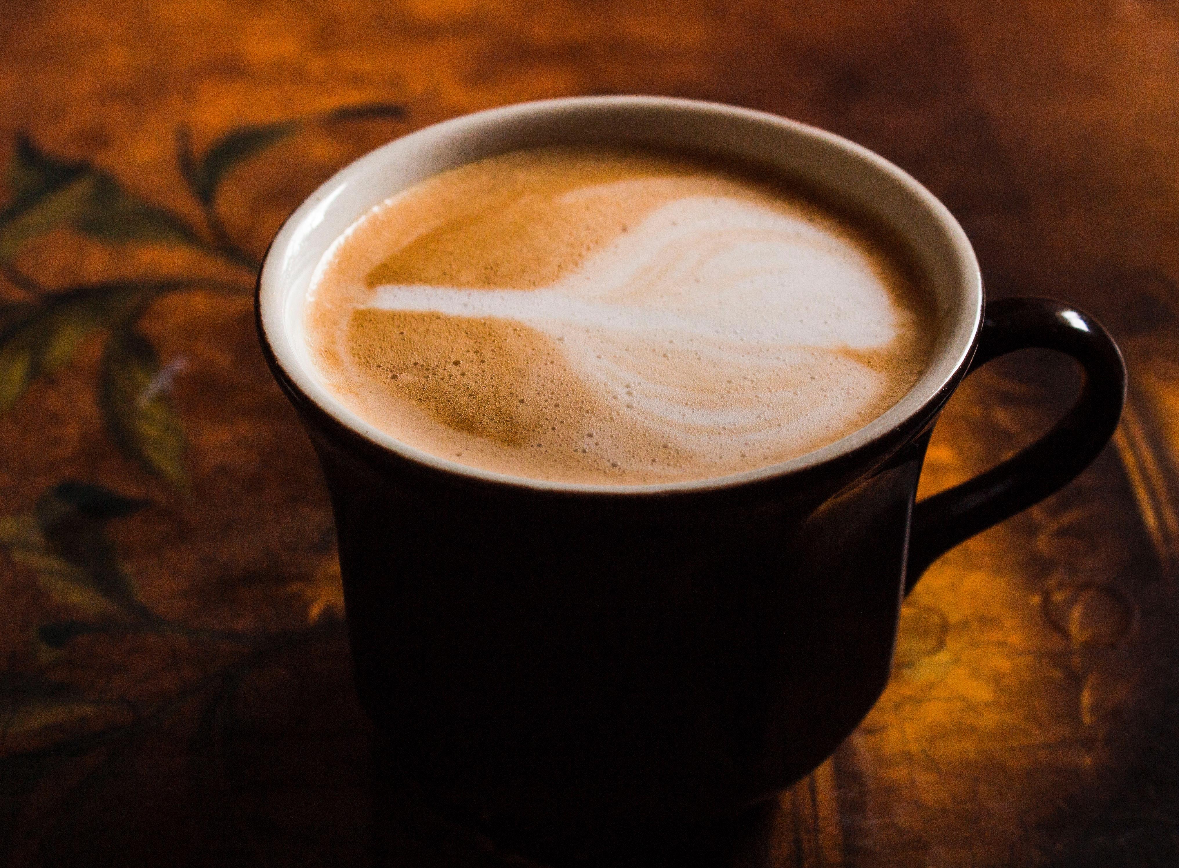 Black coffee mug · free stock photo.