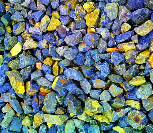 Gray and Yellow Gravel Stones