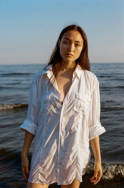 Imagine de stoc gratuită din adult, cămașă albă, cămașă supradimensionată