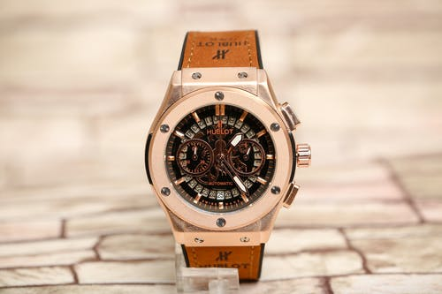 Brand Automatic Watch Presented on Shop Counter