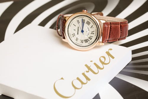 Cartier Watch and Decorative Packing Box with Logo