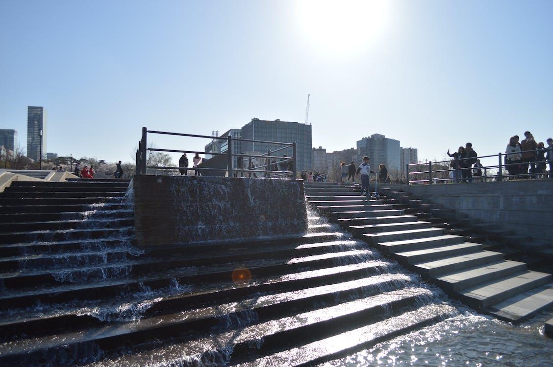 архитектура, вода, дневной свет