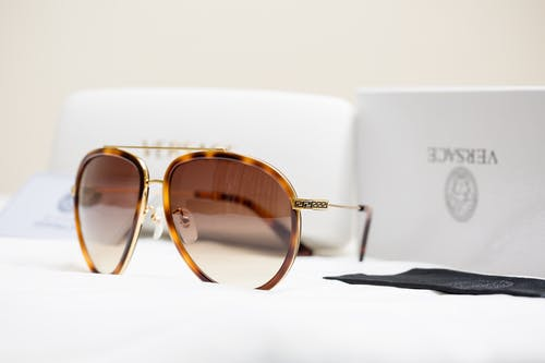 Brown Sunglasses From Versace