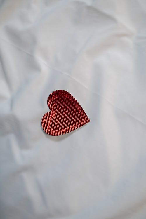 Heart on White Cloth