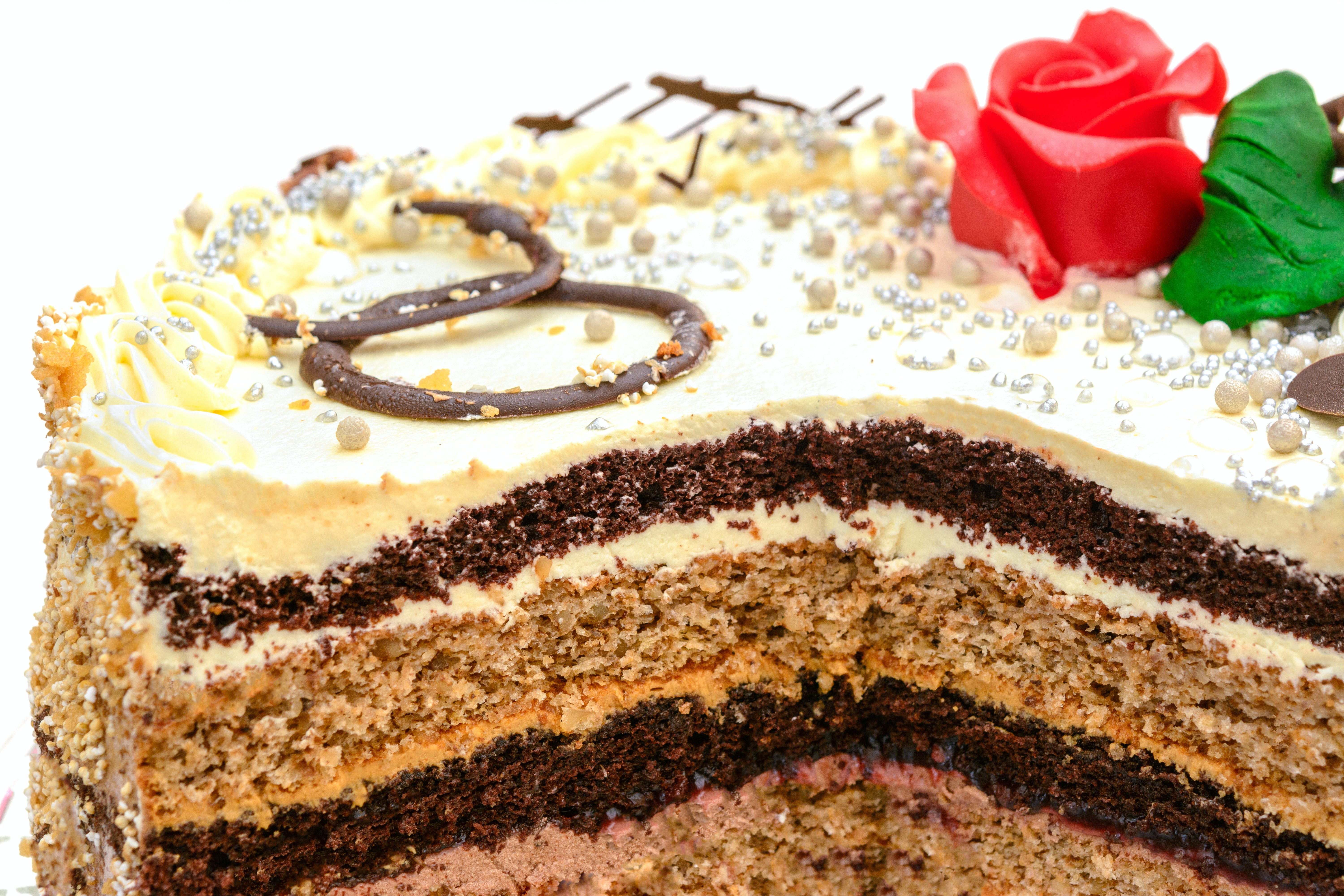 Three Layered Cake With Frosting