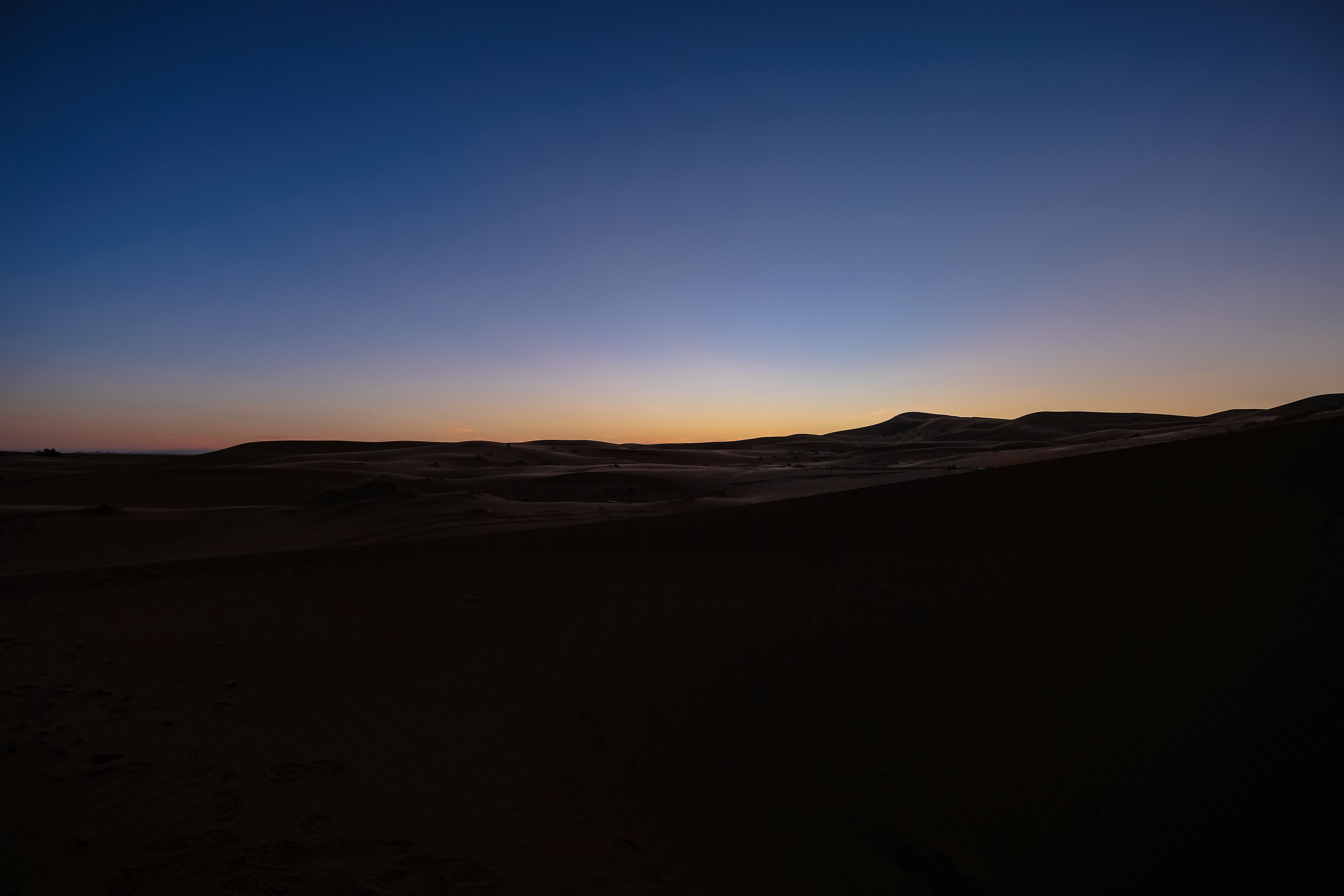Silhouette Photography of Desert