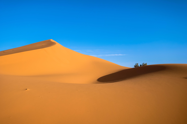 Kostenloses Stock Foto zu abenteuer, blaue himmel, dünen, dürr