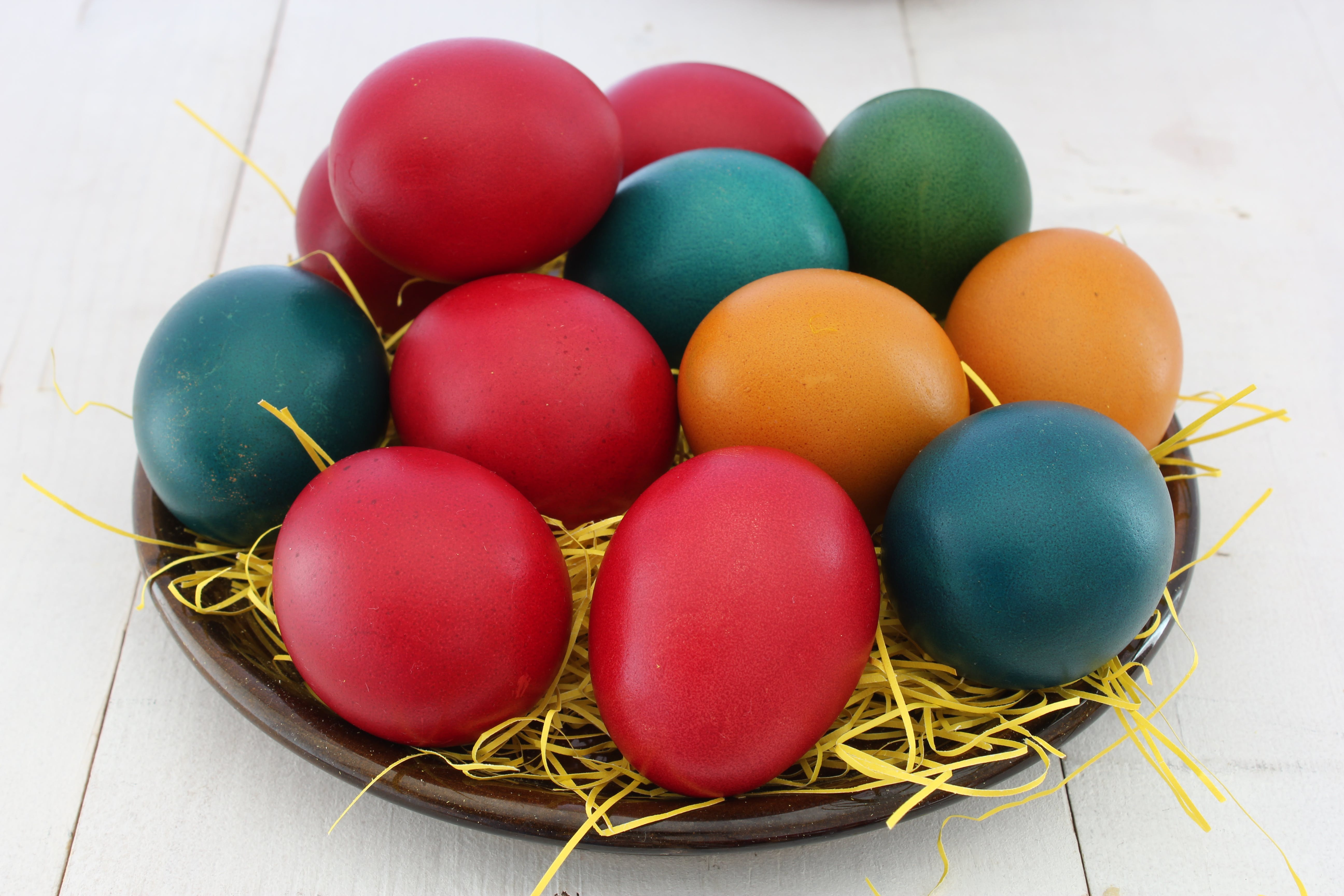 Red, Orange, and Green Printed Eggs Screenshot
