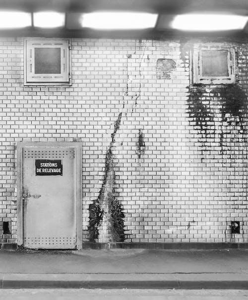 Kostnadsfri bild av ljus, metro, paris, svartvitt