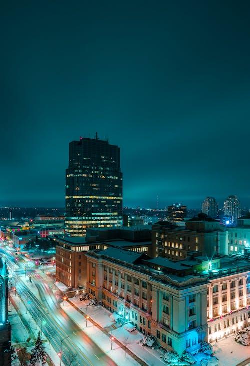 光迹, 冬季, 冷, 城市 的 免費圖庫相片