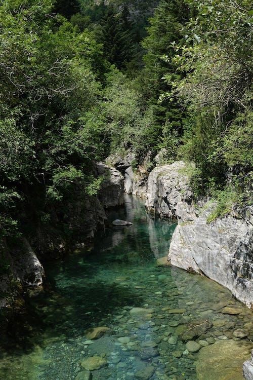 River Between Rocky Cliffs