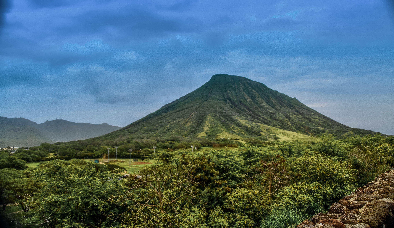 Green Mountain Behind Grass