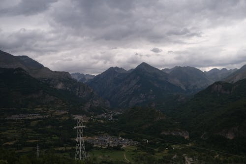 Mountain Landscape on Gloomy Day