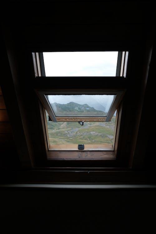 インドア, ウィンドウの風景, ビューの無料の写真素材
