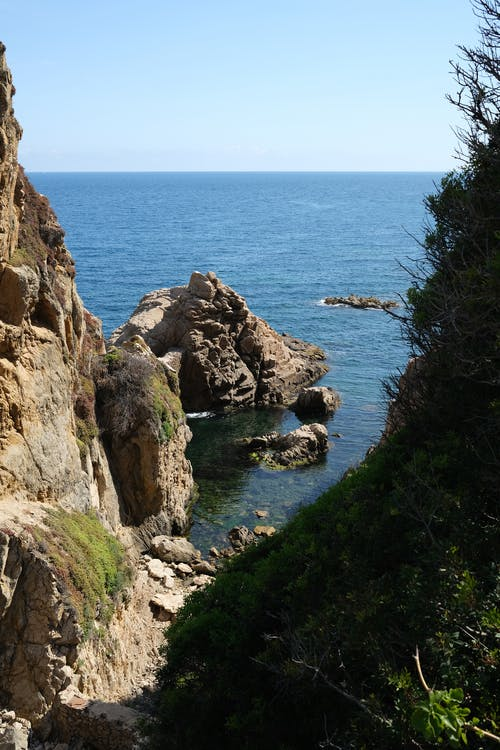 Rocky Coastline and Cliffs