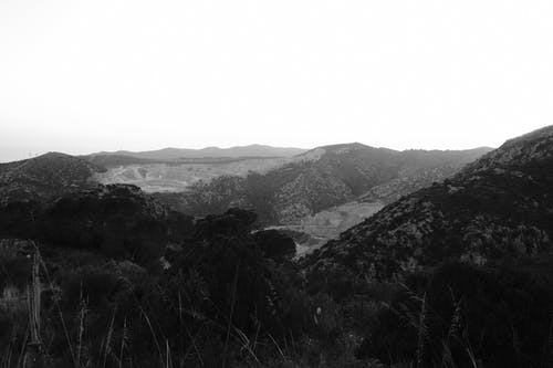 A Shot of Hills in Black and White