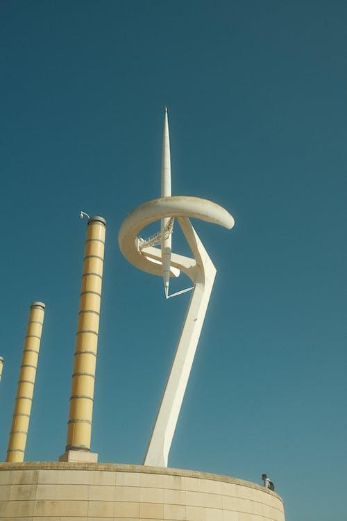 Futuristic Sculpture Against Clear Sky