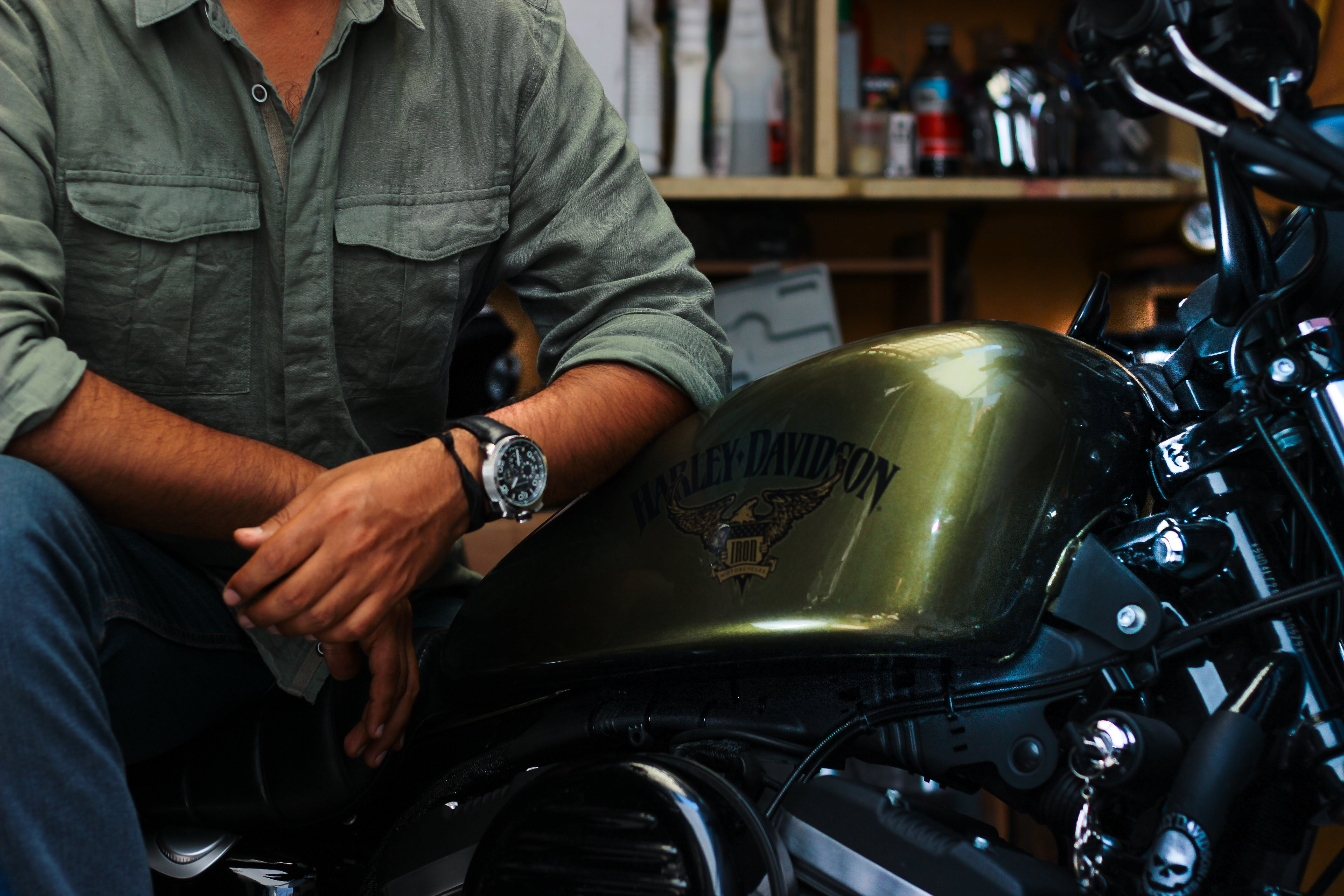 Gold and Silver Harley-davidson Motorcycle