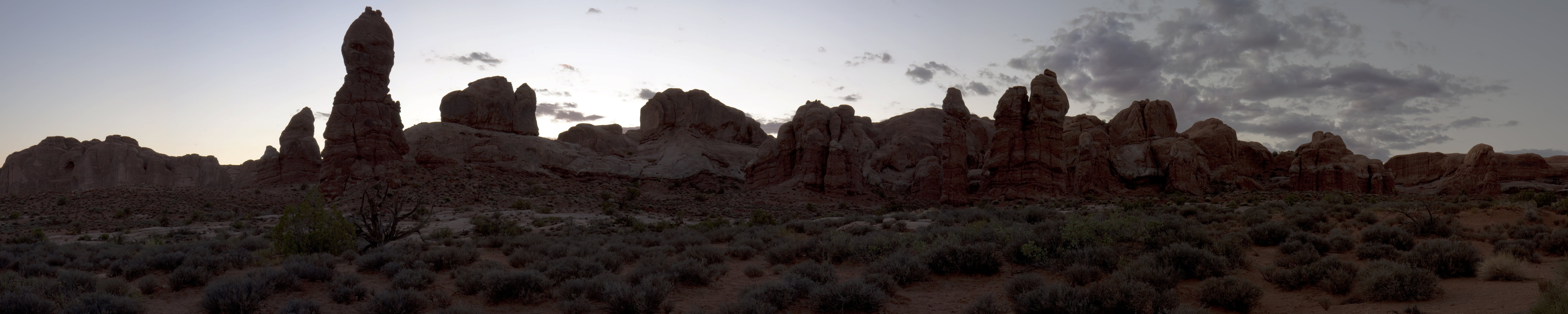 Panoramic Photo Of Rock Formations