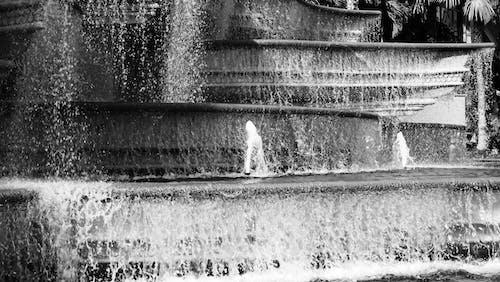 Foto d'estoc gratuïta de aigua, blanc i negre, Font