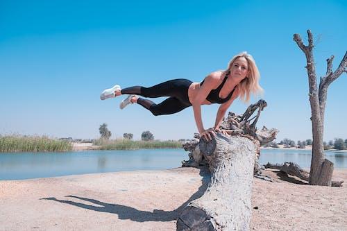 健身, 女人, 女孩, 平衡 的 免费素材照片