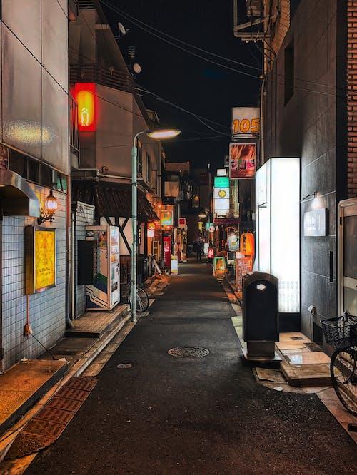 가벼운, 간판, 거리의 무료 스톡 사진