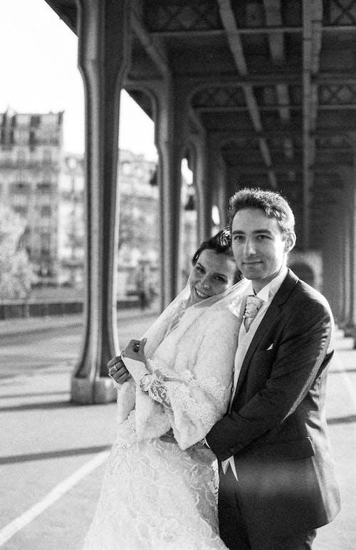 Newlyweds on Train Station