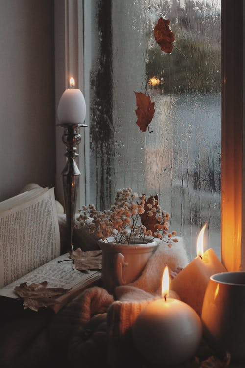 Autumn Still Life with Candlelight