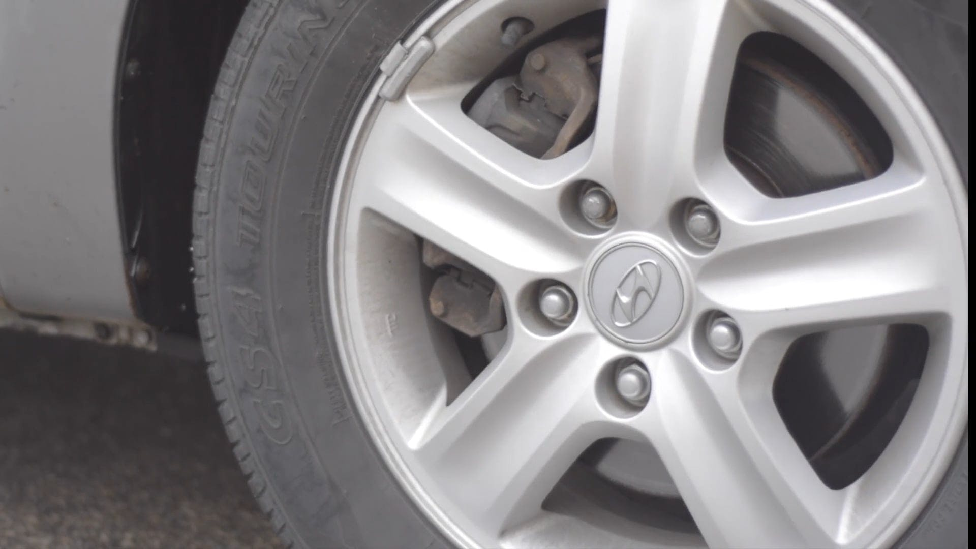 Close Up Video Of Moving Car Wheel