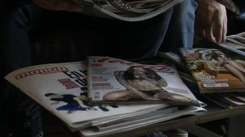 Magazines On A Table