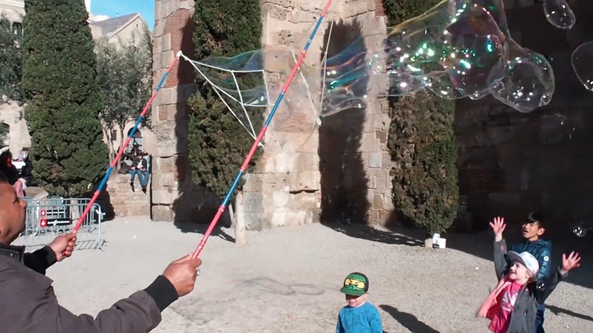 Kids Enjoying Bubbles